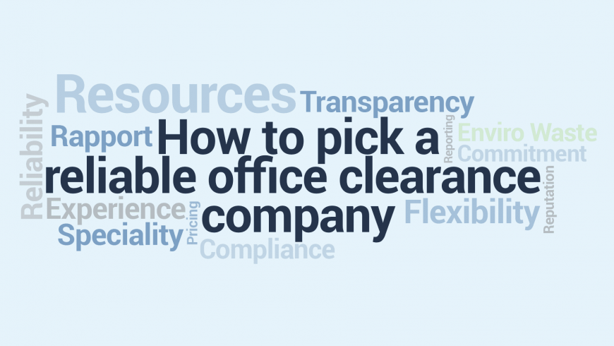 How to Pick a Reliable Office Clearance Company
