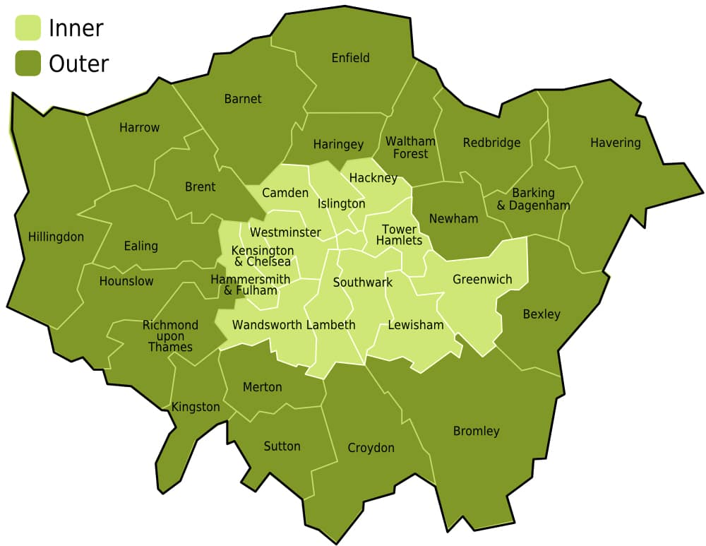Almost 90% of London is below national average for household recycling
